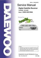 Buy DAEWOO DSD-9230E(DIGITAL SATELLITE RECEIVER) Service Manual by download Mau