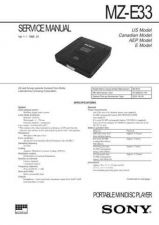 Buy SONY MZ-E33 Service Manual by download #167124