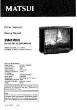 Buy Sanyo 25M1-MK3 SM-Only Manual by download #172633