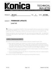 Buy Konica 01 FIRMWARE UPDATE Service Schematics by download #135765