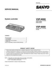 Buy Sanyo Service Manual For VSP-8000 by download #176315