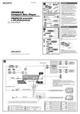Buy SONY CDX601 Service Manual by download #166614