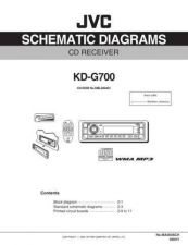 Buy JVC KD-G700SCH TECHNICAL DATA by download #131135
