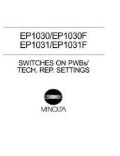Buy Minolta EP1030 P6001 SWITCHES Service Schematics by download #138045