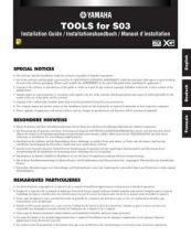 Buy Yamaha S03 EN DE FE IG Operating Guide by download Mauritron #205230