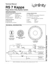 Buy INFINITY RS 7 KAPPA TS Service Manual by download #151415
