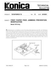 Buy Konica 11 1ST PAPER FEED JAMMING PREVENTION KIT Service Schematics by download #