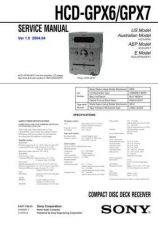 Buy SONY HCD-GPX6GPX7 Service Manual by download #166958