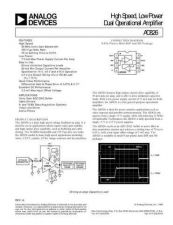 Buy INTEGRATED CIRCUIT DATA AD826J Manual by download Mauritron #186376