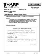 Buy Sharp FAX283 Technical Bulletin by download #139004