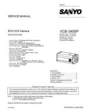 Buy Sanyo Service Manual For VCB-3450P Manual by download #176077