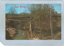 Buy AL Cullman Covered Bridge Postcard Legg Bridge Over Crooked Creek World Gu~5