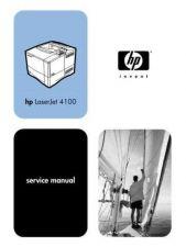 Buy HP LASERJET 4100 SERVICE MANUAL by download #151297