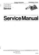 Buy PHILIPS CHASSIS CTX-E Service Manual by download #156965