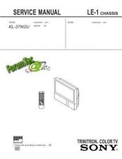 Buy Sony KL-37W2 LE-1-1 Service Manual by download Mauritron