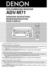 Buy Denon Bed ADV-M71 User Instructions by download Mauritron #204271