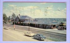 Buy CAN Cochrane Ontario Union Station View Across Tracks Brick depot w/Long L~122