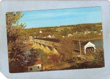 Buy CAN Hartland Covered Bridge Postcard Longest Covered Bridge In The World O~20