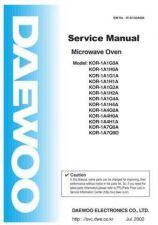 Buy Daewoo R1A1G 1H 0A 6A(R1A1G0S002) Manual by download #168766