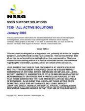 Buy Konica 7035 Service Schematics by download #136252