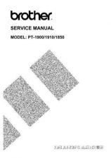 Buy BROTHER PT-2450 PARTS MANUAL Service Manual by download #150057