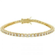 Buy Goldtone Victorian Cz Tennis 7 Inch Bracelet