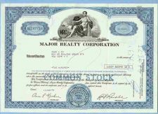 Buy DE na Stock Certificate Company: Major Realty Corporation ~50