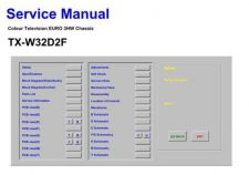 Buy Television TXW32D2F Service Manual by download Mauritron #194863