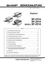 Buy Sharp SF2314-2414-2514 SM DE Service Manual by download #134392