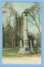 Buy CT New Haven Soldiers Monument View Of Iron Fenced In Monument w/Ivy Cover~614