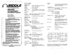 Buy Biddle 210200 Operating Guide User Instructions by download #180250