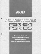 Buy Yamaha PSR85E Operating Guide by download Mauritron #204185
