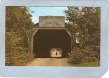Buy AL Cherokee Covered Bridge Postcard Buzzard Roost Bridge Over Buzzard Roos~4