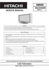 Buy HITACHI SM 008E Service Data by download #151172