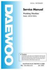 Buy Daewoo DWM161C011 2 Service Manual by download #160604
