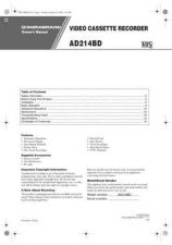 Buy Funai AD214BD HK214BD(EN) 0124 Manual by download #161235