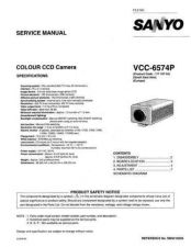 Buy Sanyo Service Manual For VCC-6580P Manual by download #176099