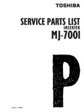 Buy Toshiba MJ7001 PARTS Service Manual by download #139331
