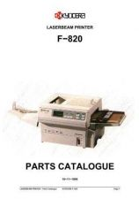Buy KYOCERA F-820 PARTS MANUAL by download #148413