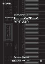 Buy Yamaha PSRE343_EN_OM_A1 Operating Guide by download Mauritron #204217
