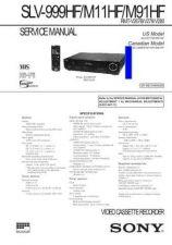Buy MODEL SLV999HF Service Information by download #124512