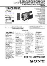 Buy SONY CCD-TR750E Service Manual by download #166455
