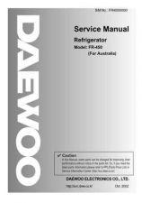 Buy Daewoo Model FR-330 Manual by download #168602