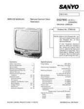 Buy Sanyo DS27800((SM780069-02) Manual by download #174055