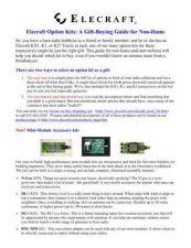 Buy ELECRAFT ELECRAFT OPTION KITS by download #120092