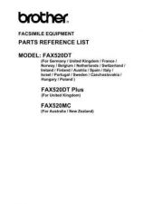 Buy BROTHER FAX 520 PARTS MANUAL Service Manual by download #146251