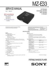 Buy MODEL SONY MZE33 Service Information by download #124551