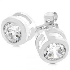 Buy Bezel Stud Earrings