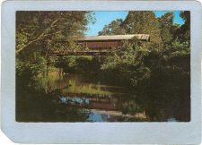 Buy AL Talladega Covered Bridge Postcard Riddle's Mill Bridge Over Talladega C~9