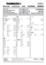 Buy THOMSON AM1250 SPARE PARTS LIST by download #131890
